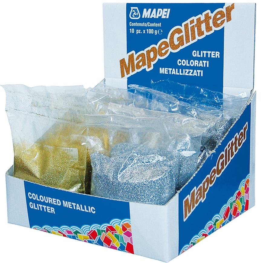 Metalické třpytky Mapeglitter stříbrné  0,1 kg