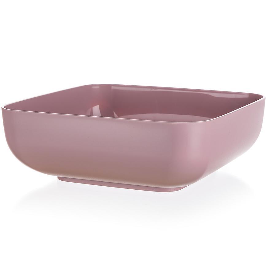 Plastová mísa culinaria 23x23x3,8cm 3l růžová