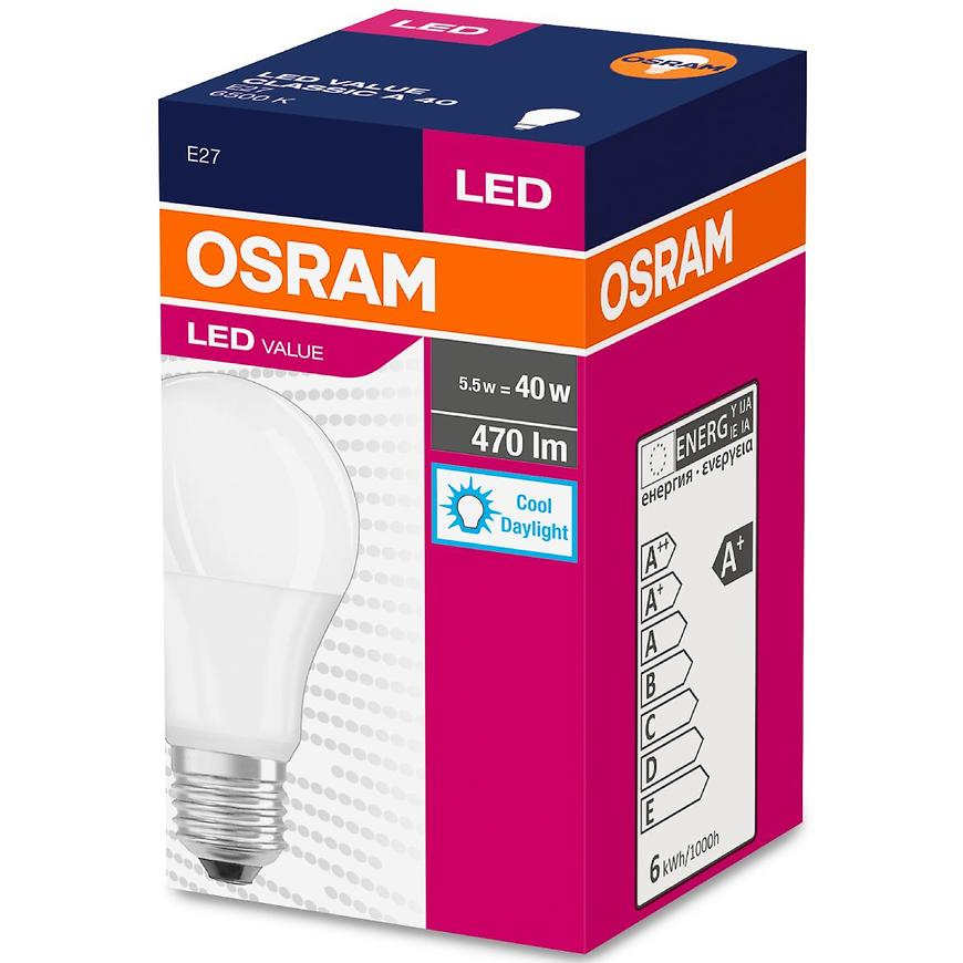 Žárovka LED  6W/865 E27 Value Cl A 40 Fr