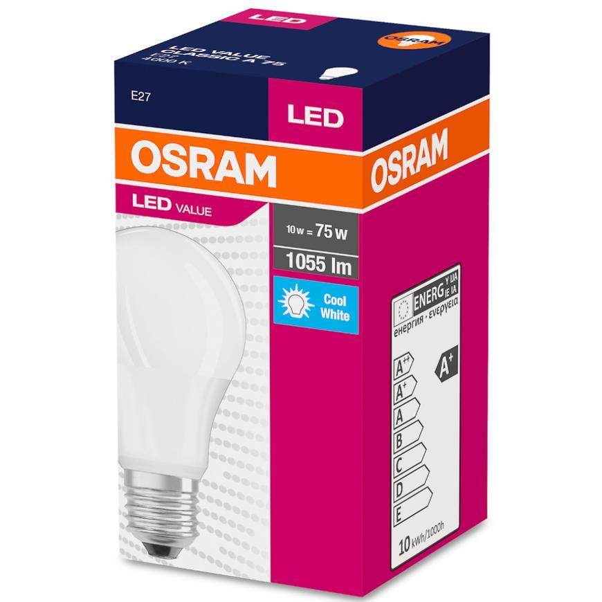 Žárovka LED 11,5W/840 E27 Value Cl A 75 Fr