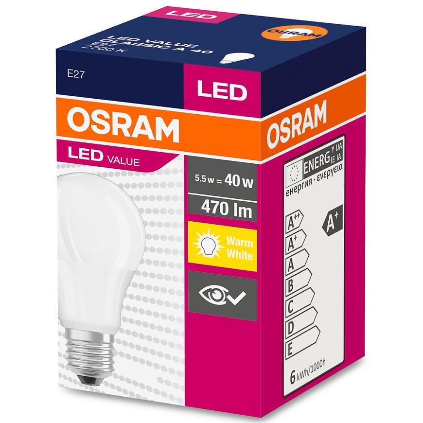 Žárovka LED 6W/827 E27 Value Cl A 40 Fr
