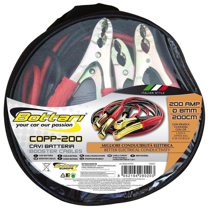 Kabely Startovací 200A zipper 8MM 200CM