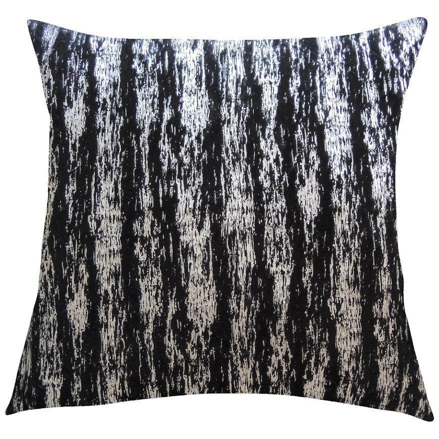 Dekorační polštář, 45x45, černostříbrný