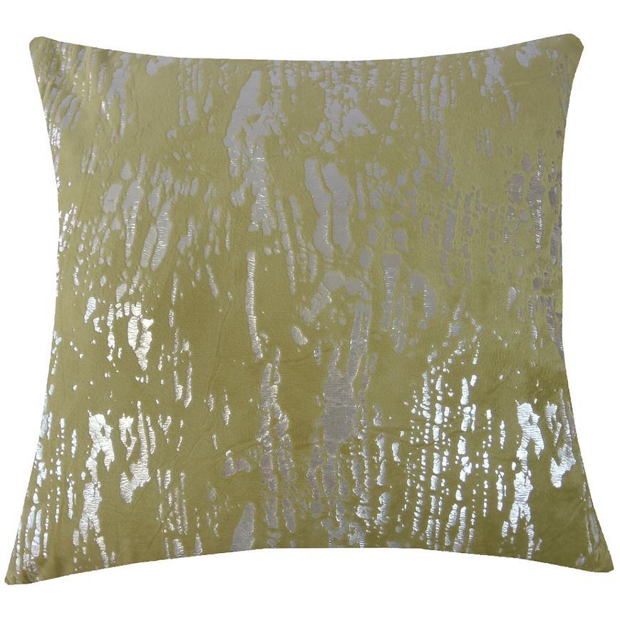 Dekorační polštář, 45x45 cm, zelenostříbrný