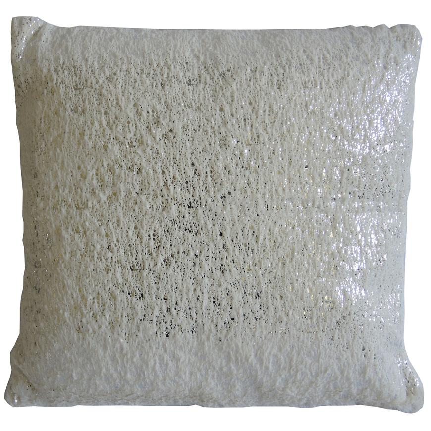 Dekorační polštář, 45x45 cm, bílostříbrný