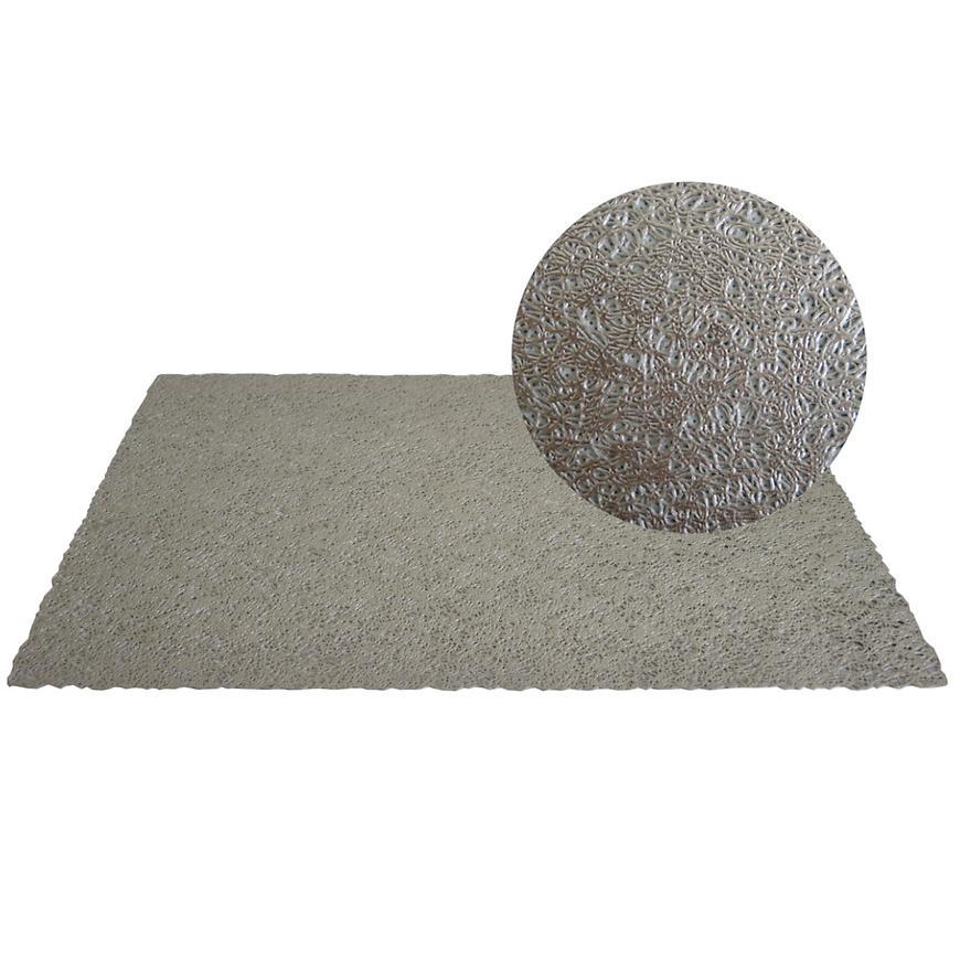 Prostírání PVC, 45x30 cm, stříbrné