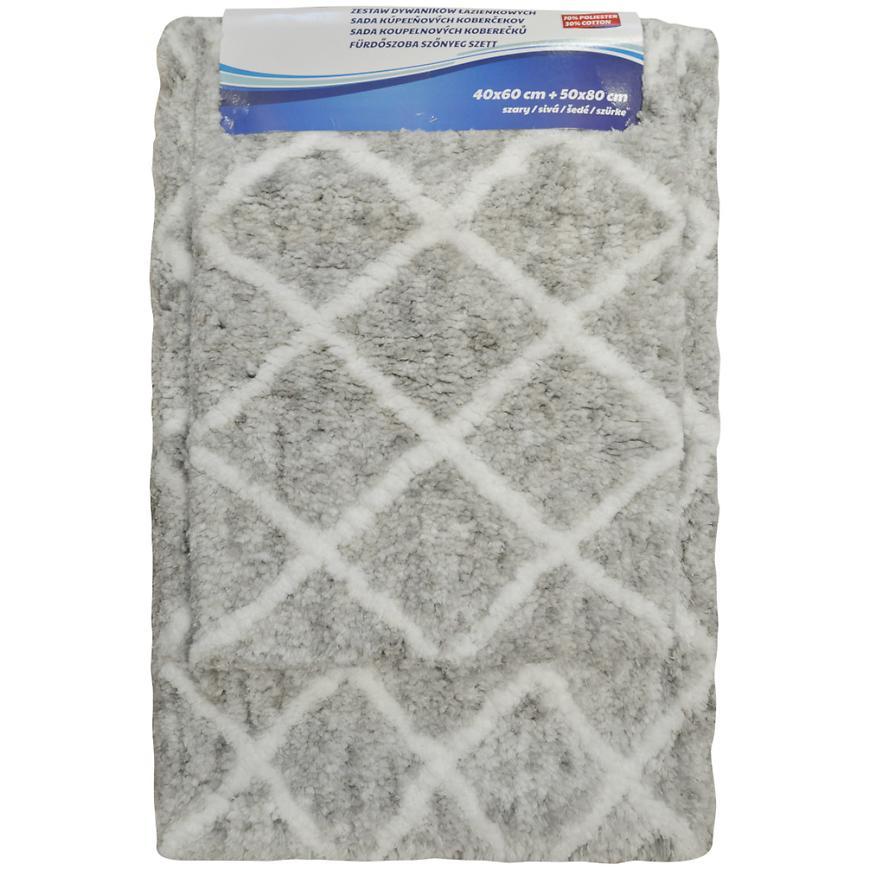 Sada koberečků BM-1102 lt. Grey 50x80 + 40x60