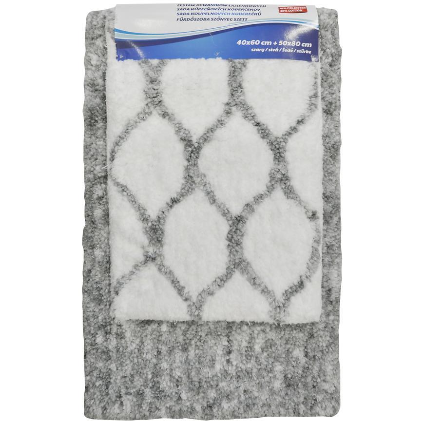 Sada koberečků ozee dk. Grey 50x80 + 40x60