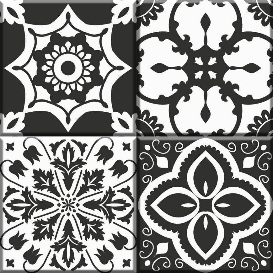 Dekor Notte Black-White 30/30