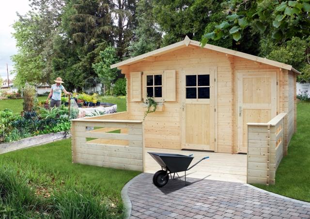 Terasa pro zahradní domek ZAWILEC 416x205 cm