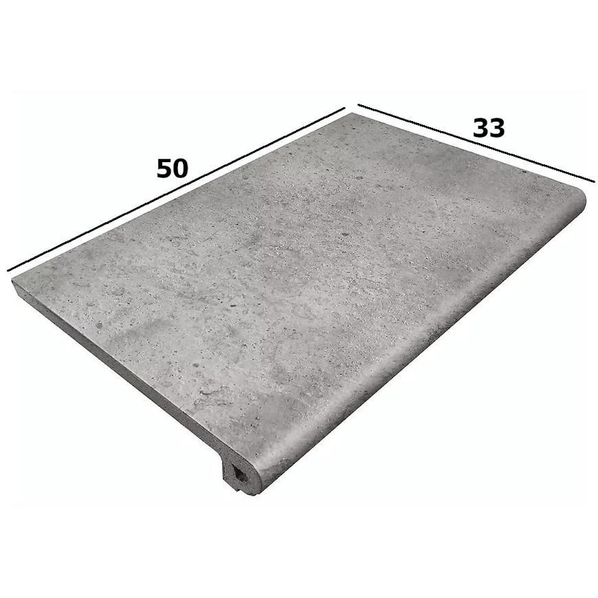 Dlažba schodová Peldano Orion gris 33/50