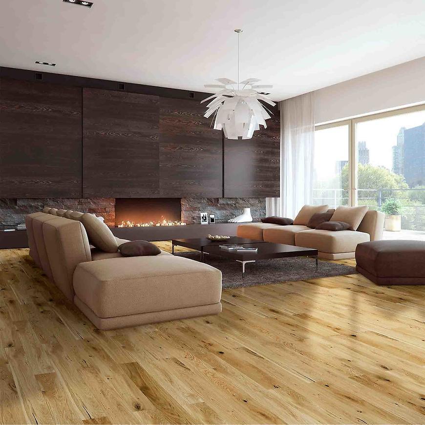 Dřevěná podlaha dub country 1lam 14x130x725