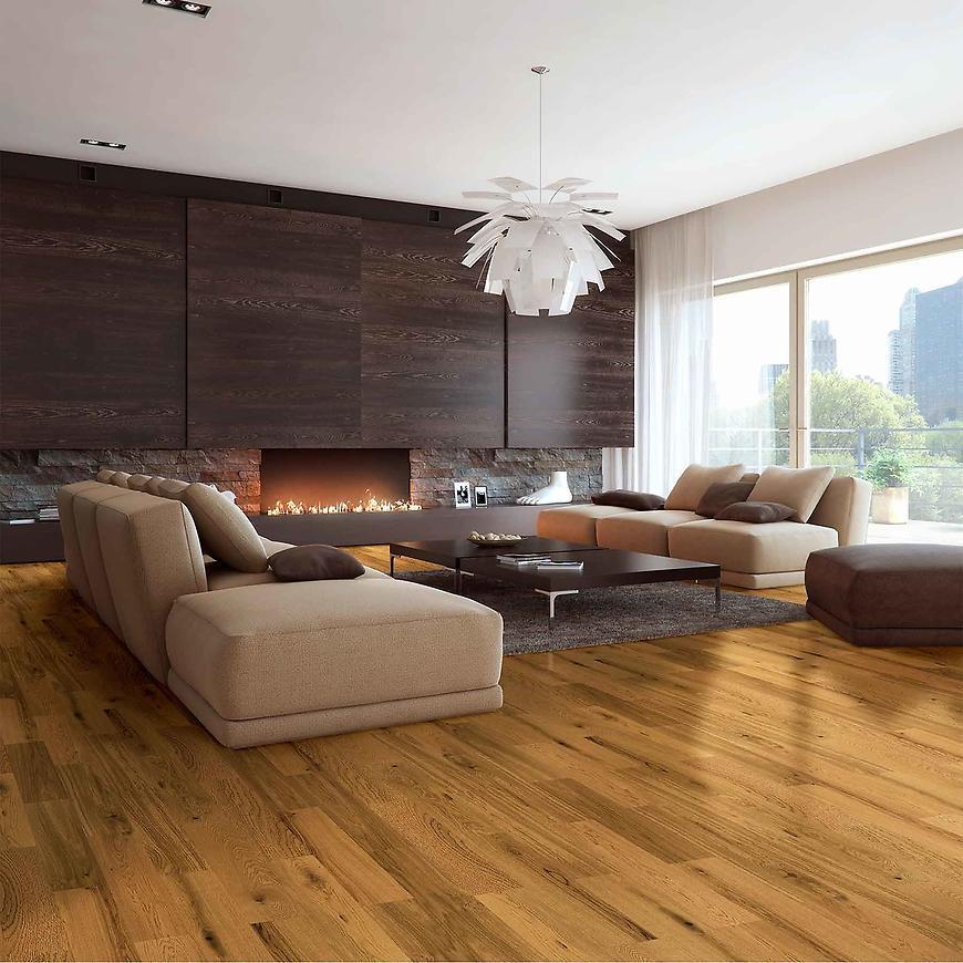 Dřevěná podlaha dub country zlatý 14x180x1092