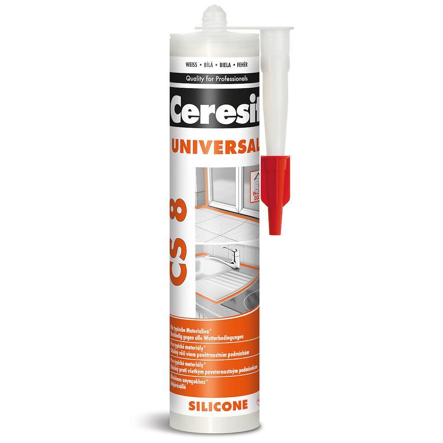 Univerzální silikon Ceresit CS 8, bílý, 280 ml