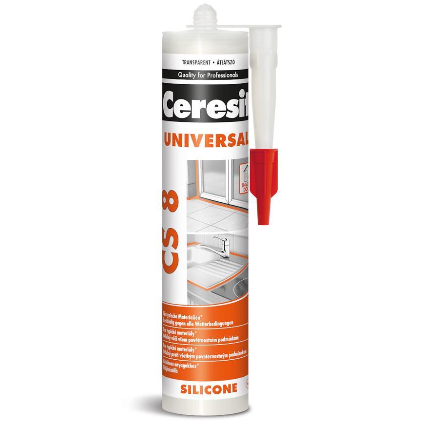 Silikon univerzální Ceresit CS 8 transparentní 280 ml
