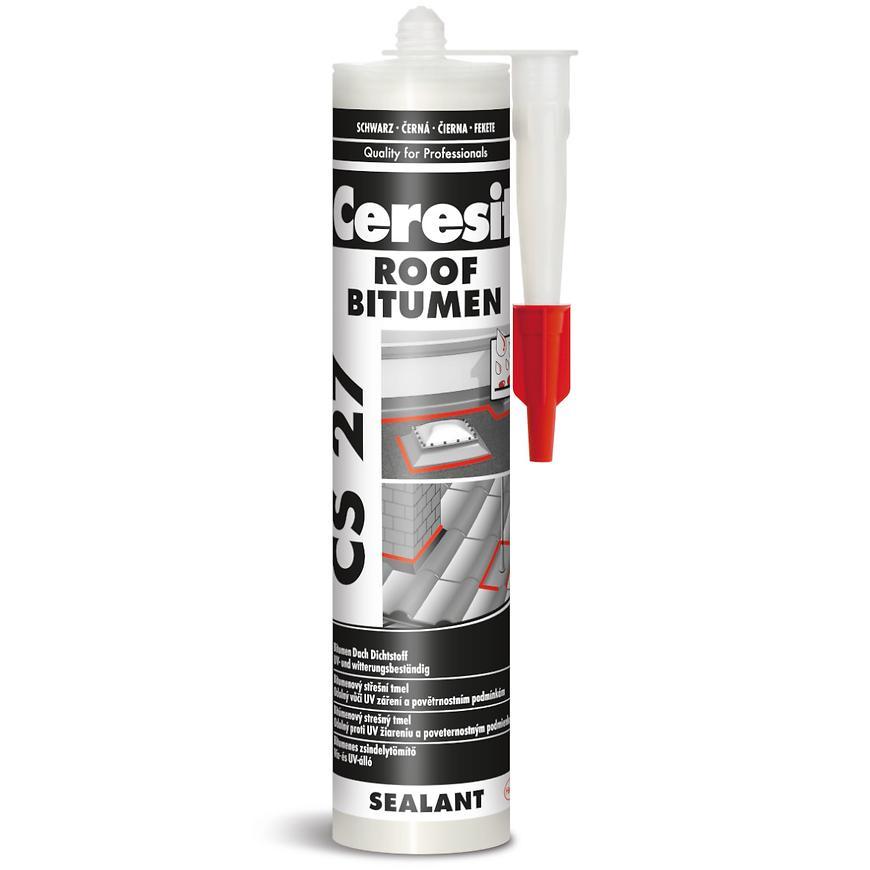 Silikon stavební Střešní Bitumen Ceresit CS 27 300 ml