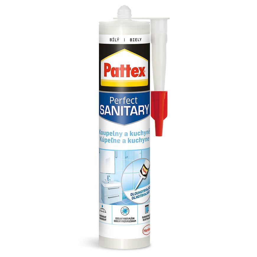 Pattex Koupelny a kuchyně Silikon sanitární bílý 280 ml
