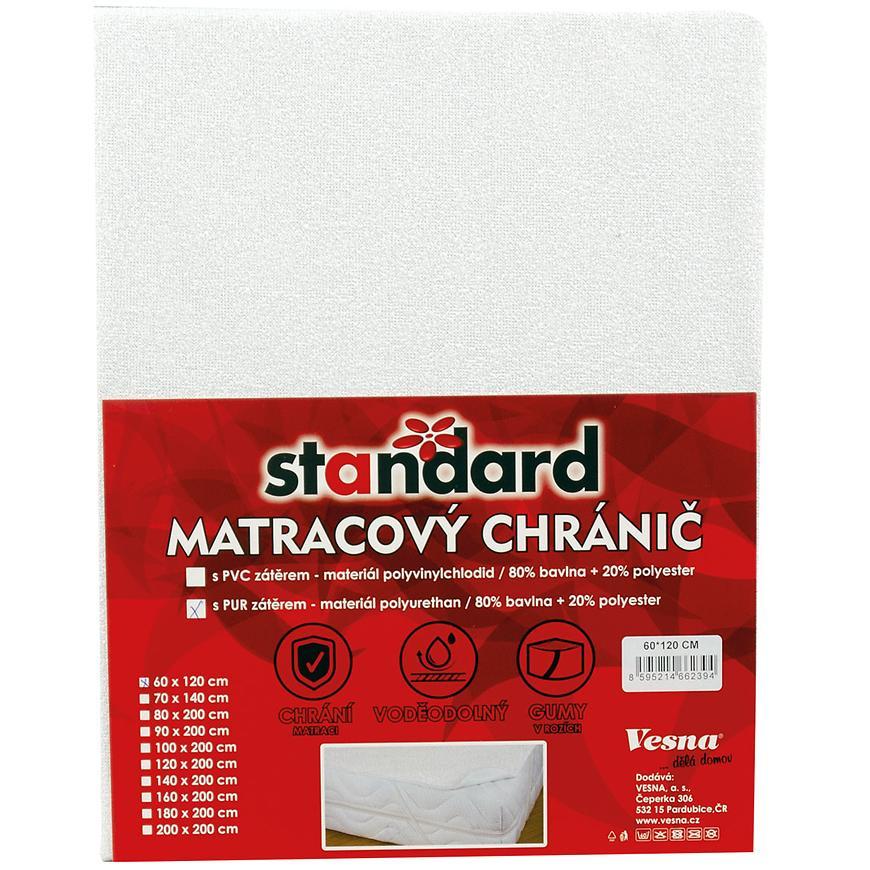 Matracový chránič PU 140x200 Standard bílá