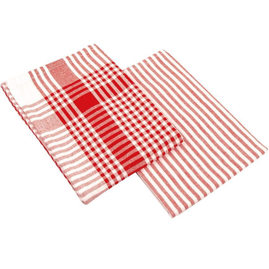 Utěrka Viola 45x70 červená set 2 ks
