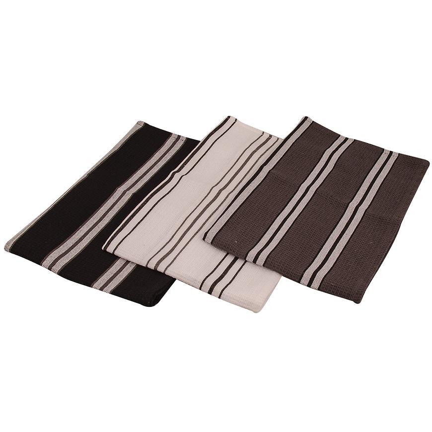 Utěrka Kaja 45x70 černá set 3 ks