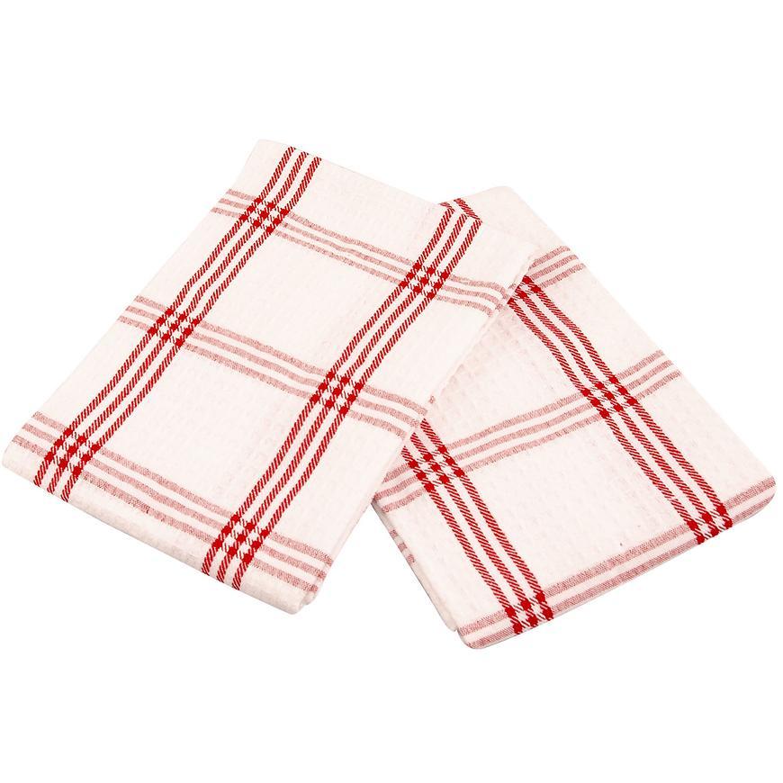 Utěrka Anabela 45x70 vafle červená set 2 ks