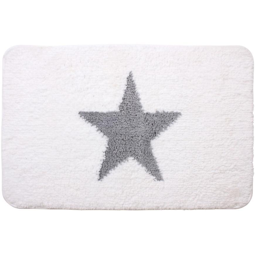 Koupelnová předložka  Elvis bílošedá