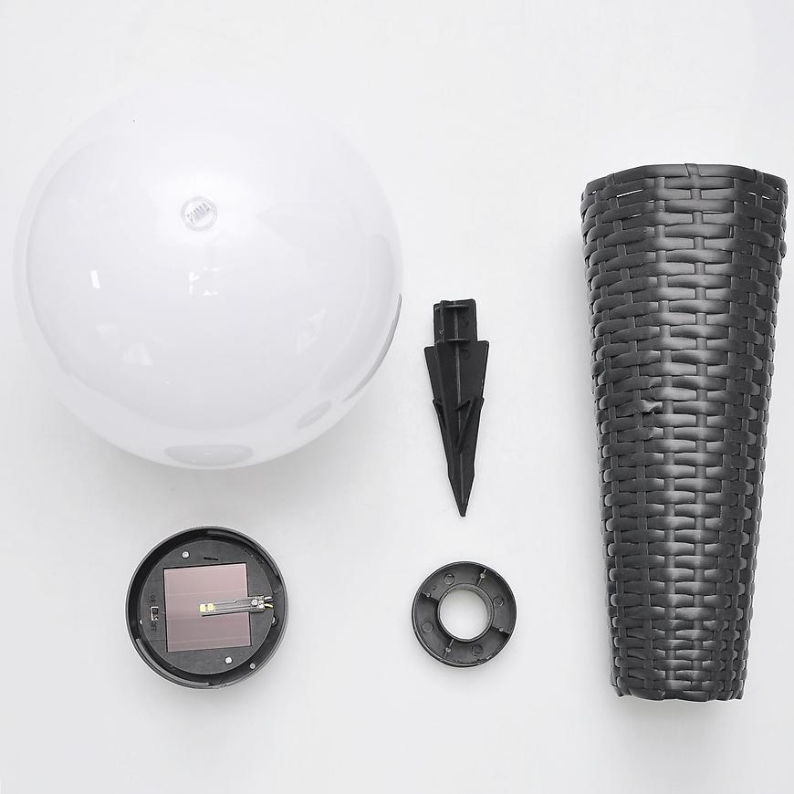 Solární osvětlení 4LED 45X20 kula ratan