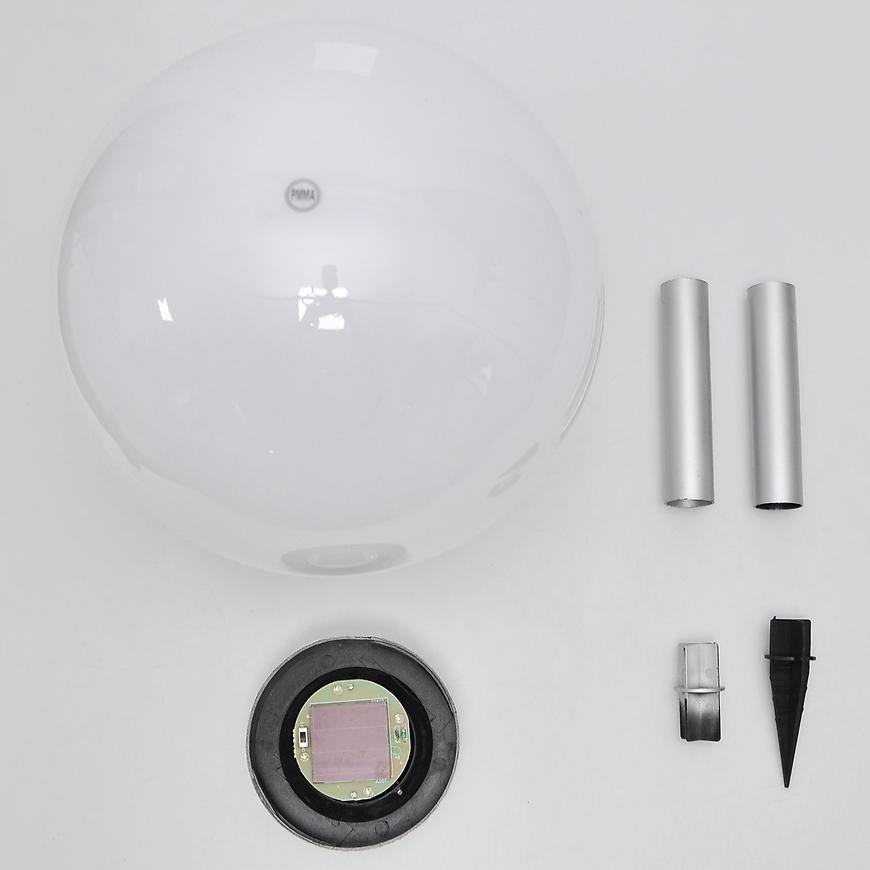 Solární osvětlení 4LED BY-131581 bílá kula 30