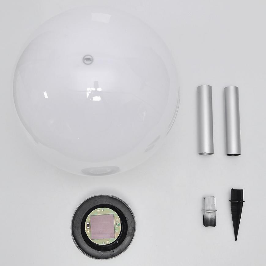 Solární osvětlení 4LED BY-131582 bílá kula 30 RGB