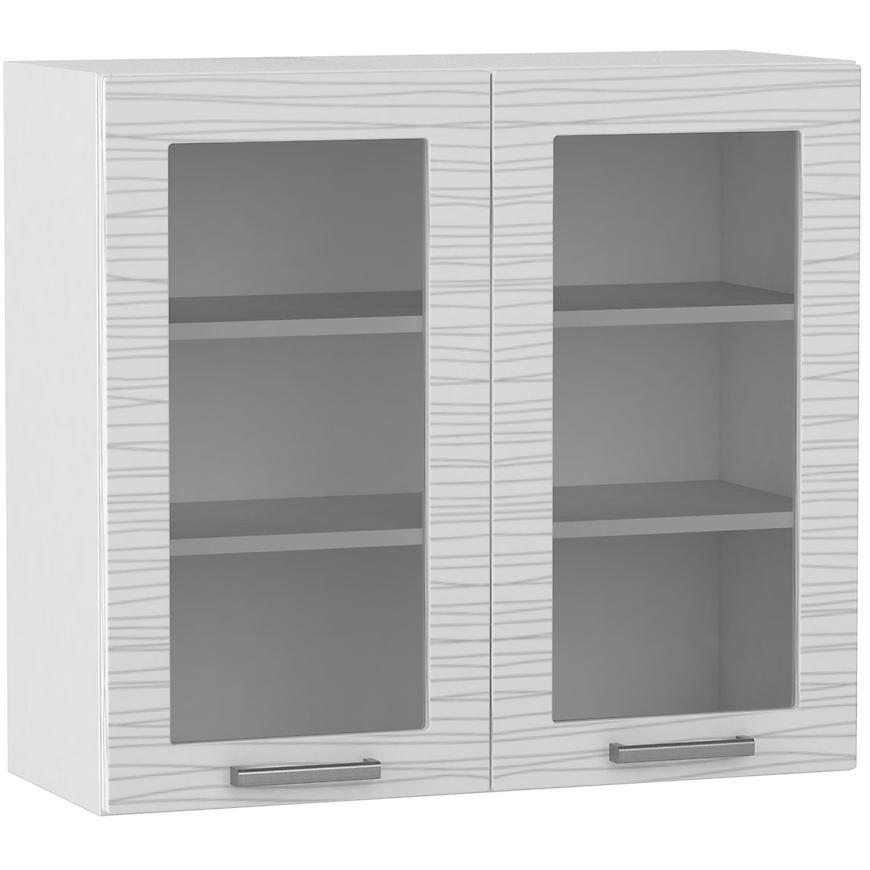 Kuchyňská skříňka Megan white/black hologram line WS80  BB