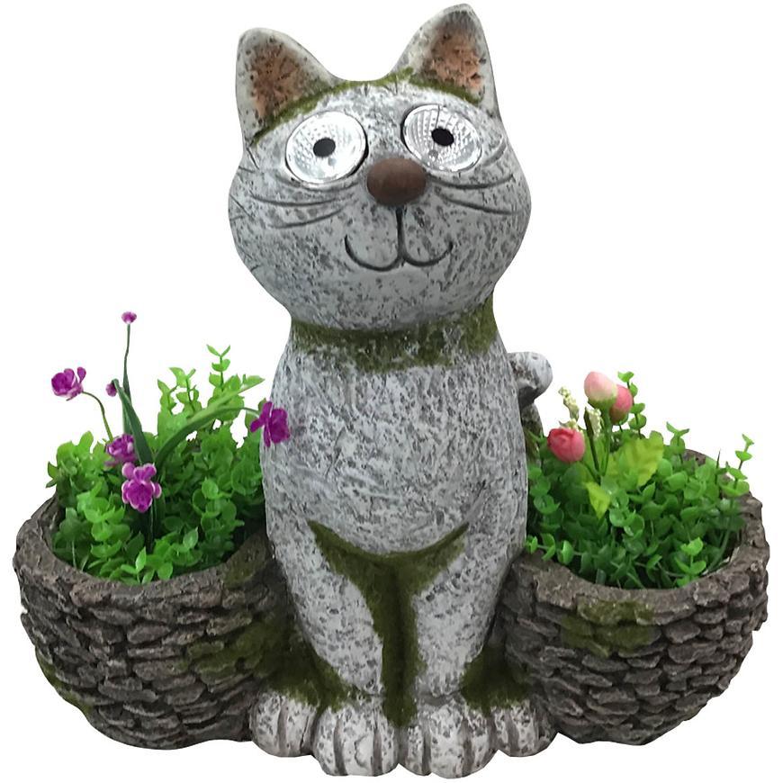 Kočka s květináči / solární světla UA10-1948A