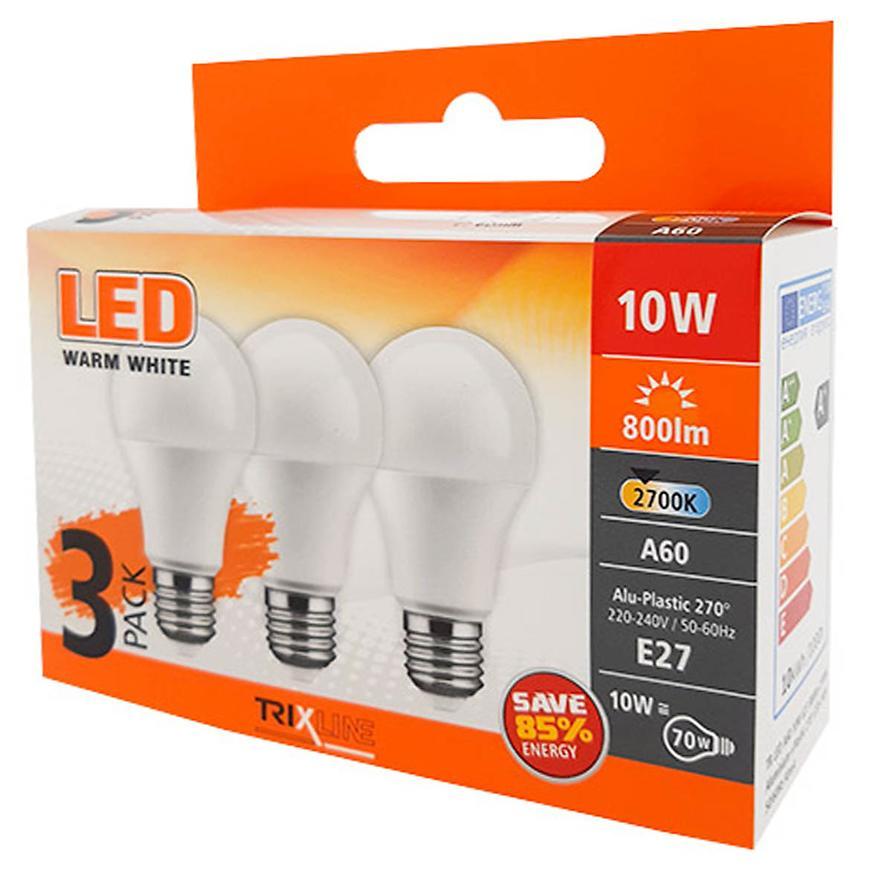 Žárovky LED (3-PACK) A60 10W E27 2700K