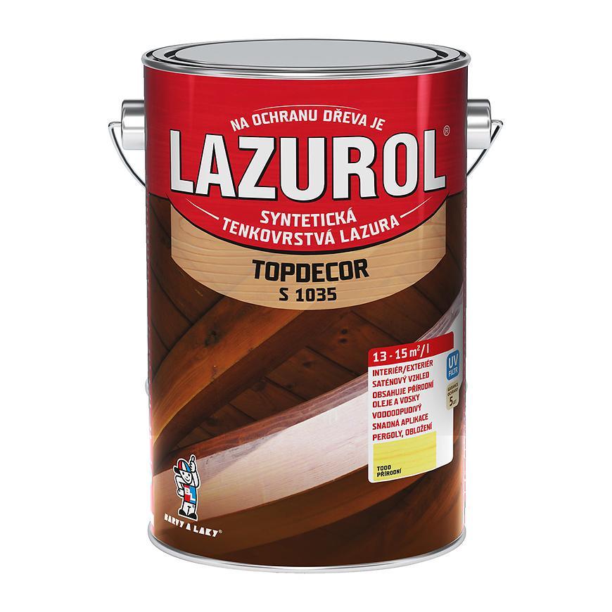 Lazurol Topdecor přírodní 4,5L