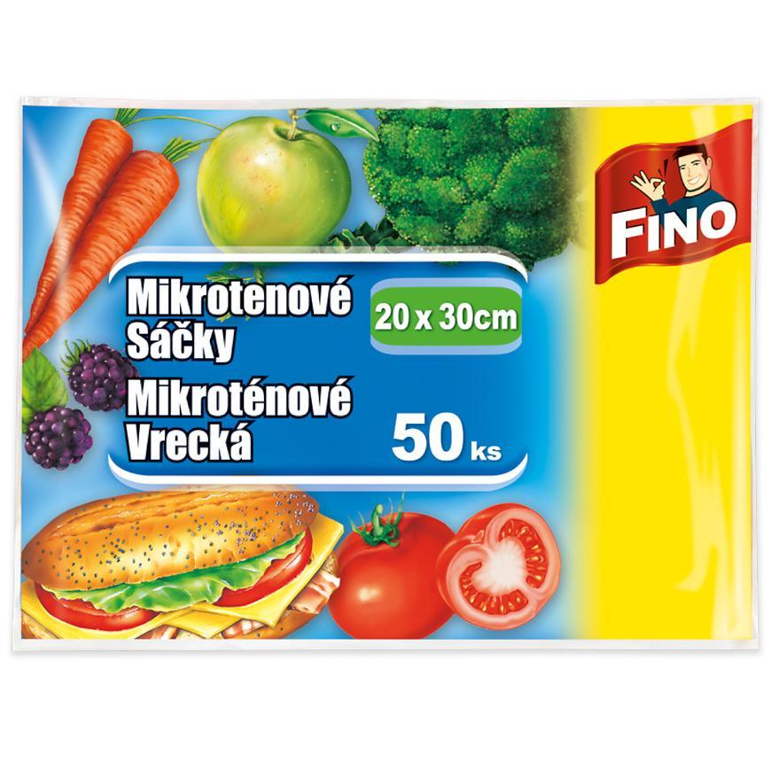 Plastové sáčky na potraviny Fino 20x30cm 50ks