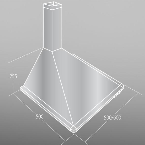 Digestoř WK-5 elegant mini turbo 50cm černá