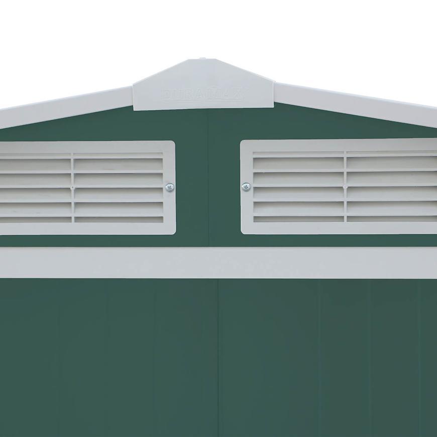 Kovový zahradní domek 3627x3221x1961 zelený