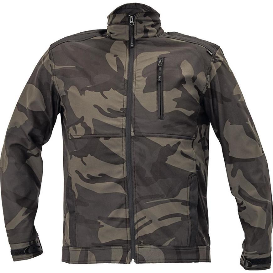 Crambe softshellová bunda camouflage S