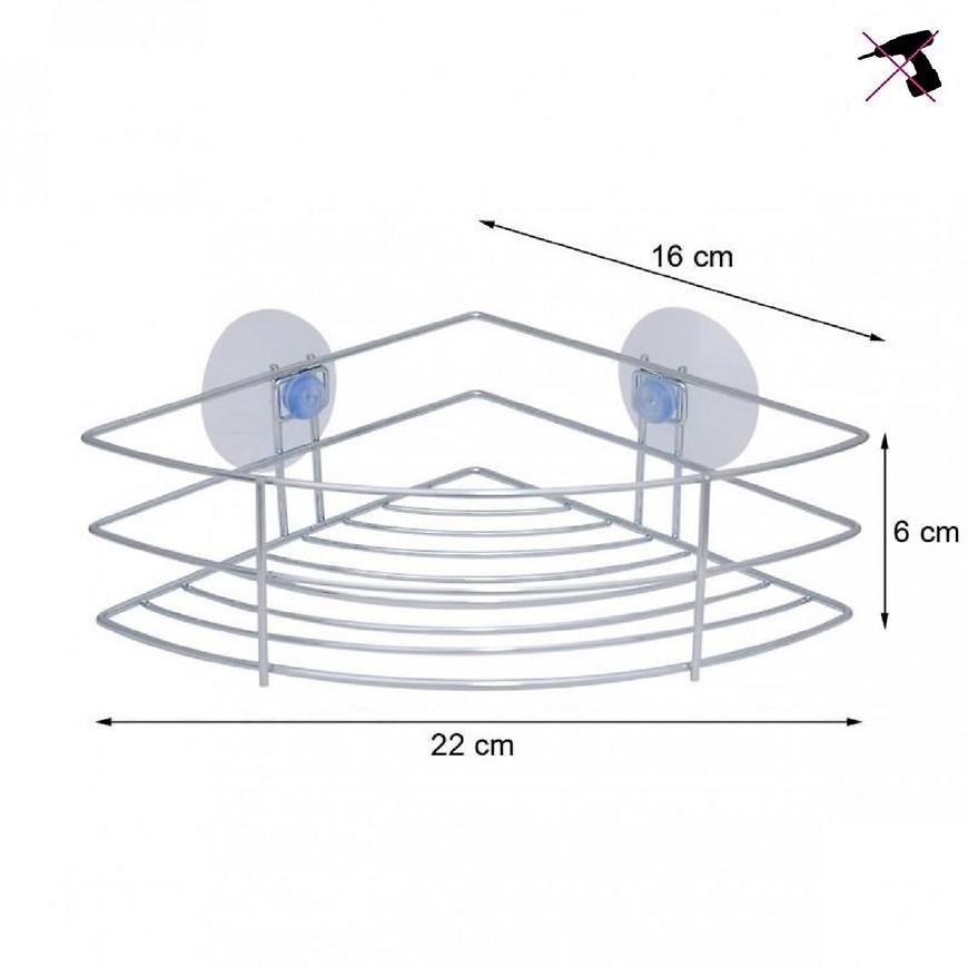 Rohový košík na prísavky