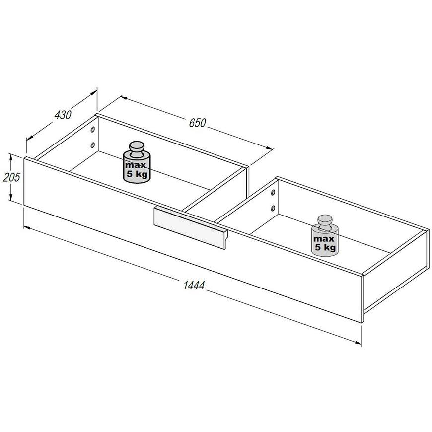 Zásuvka pod postel Arkina LBLL01-C804