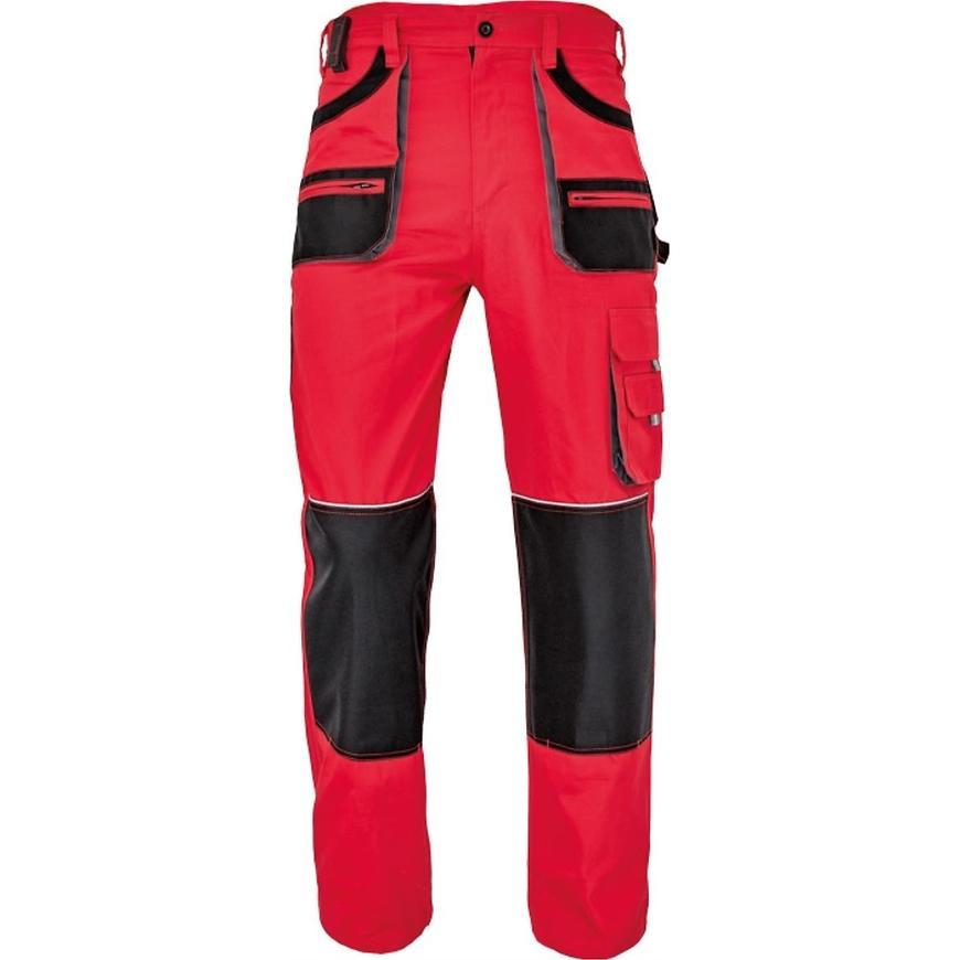 FF Carl be-01-003 kalhoty černá/červená 52