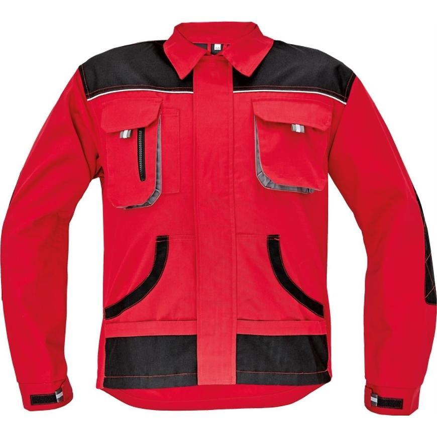 FF Carl be-01-002 bunda černá/červená 48