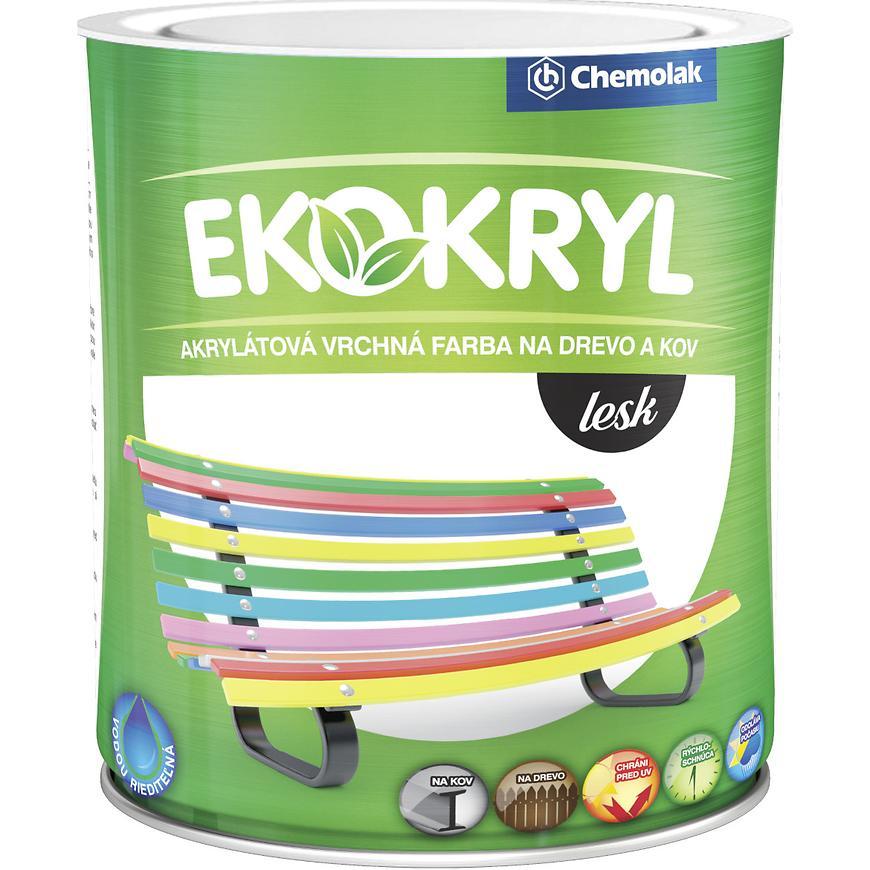 Ekokryl Lesk 0812 0,6l Cerveny
