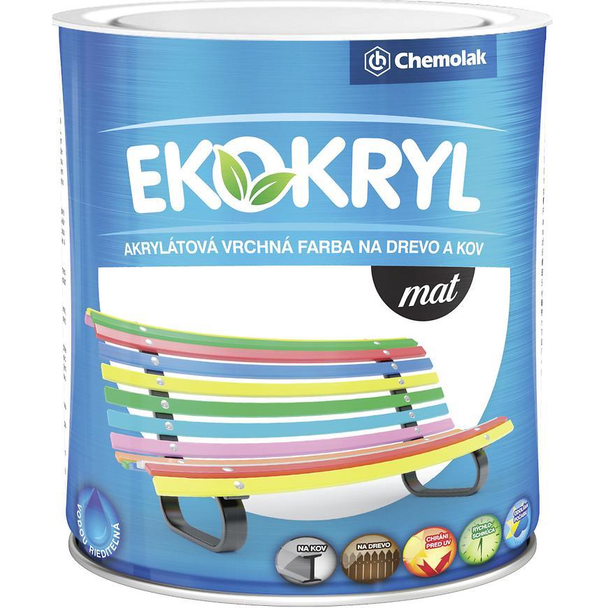 Ekokryl Mat 0100 0,6l Biely