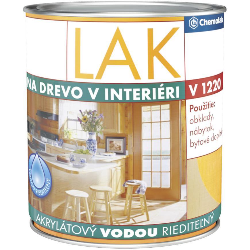 Chemolak Lak Na Drevo Inter. V1220 Pololeskly 0,6l