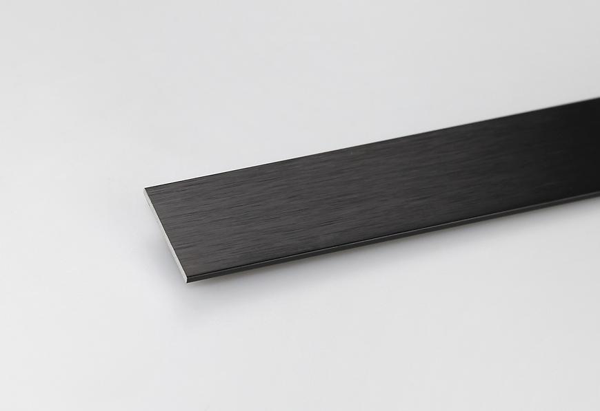 Profil Plohý Kartáčovaný Černý 20x2x1000