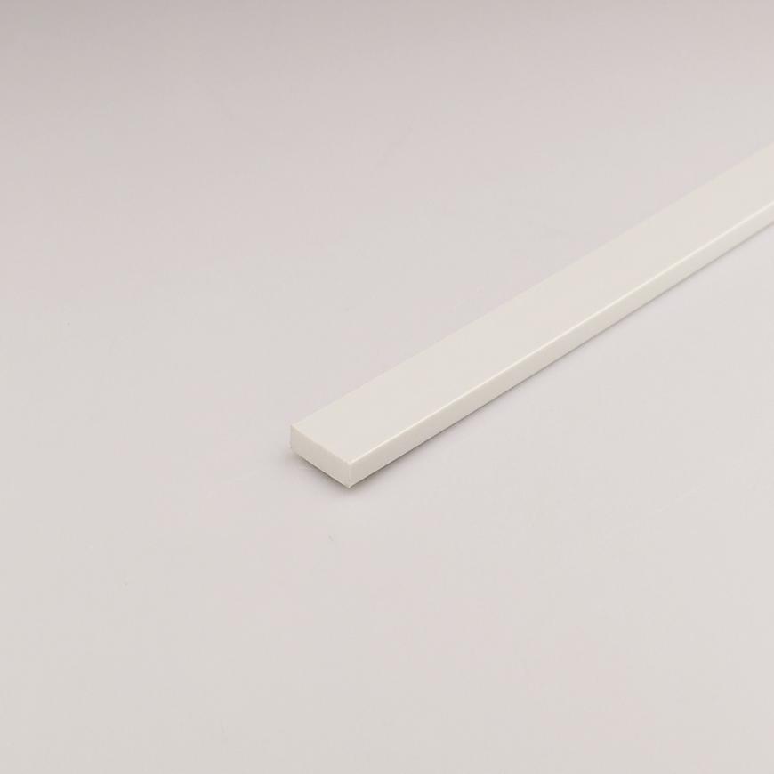 Profil Plohý PVC Bílý 25x1000