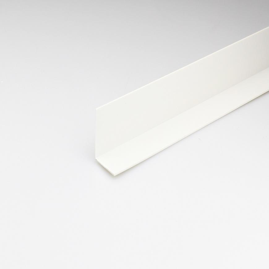 Rohový Profil PVC Bílý Satén 25x25x1000