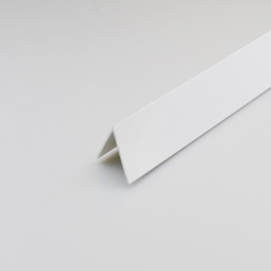 Rohový Profil PVC Bílý Satén 30x30x1000