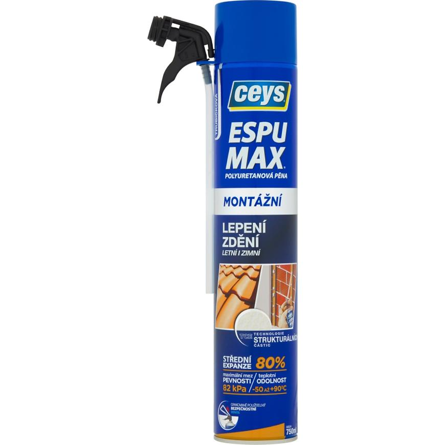Montážní pěna Ceys Espumax polyuretanová trubičková 750 ml