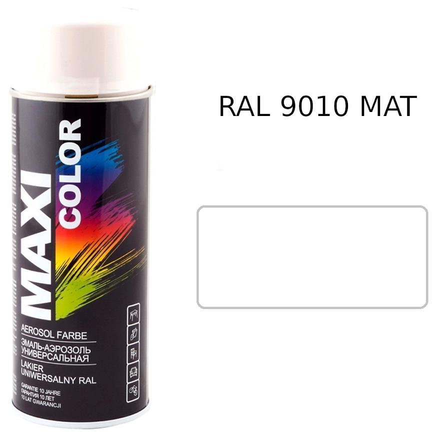 Sprej Maxi Color RAL9010 mat 400ml